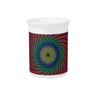 Fractal del remolino jarras para bebida