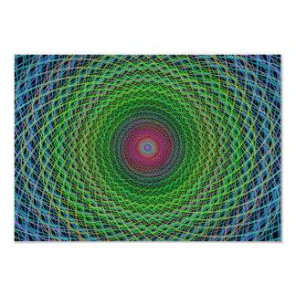 """Fractal del RGB Invitación 3.5"""" X 5"""""""