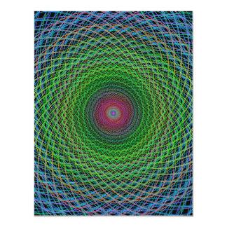 """Fractal del RGB Invitación 4.25"""" X 5.5"""""""