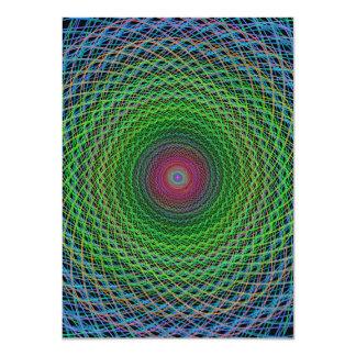 """Fractal del RGB Invitación 4.5"""" X 6.25"""""""