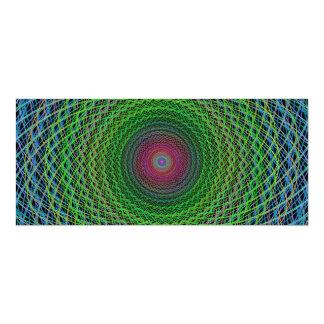 """Fractal del RGB Invitación 4"""" X 9.25"""""""