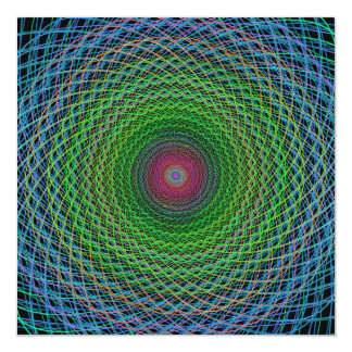 """Fractal del RGB Invitación 5.25"""" X 5.25"""""""