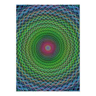 """Fractal del RGB Invitación 5.5"""" X 7.5"""""""