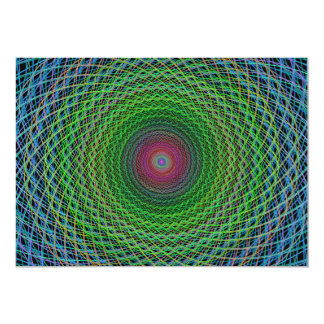 """Fractal del RGB Invitación 5"""" X 7"""""""
