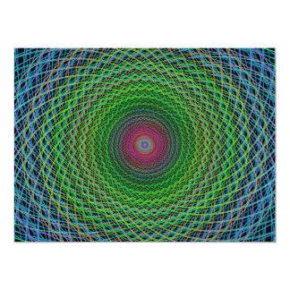"""Fractal del RGB Invitación 6.5"""" X 8.75"""""""