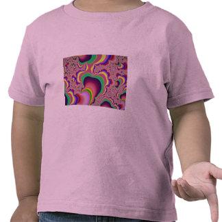 Fractal del tubo del gusano que brilla intensament camiseta