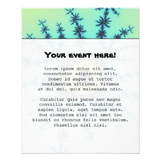 Fractal del verde de mar tarjeta publicitaria
