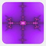 Fractal del zen calcomanias cuadradas
