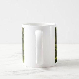 Fractal Design (Cricca Nut, Olive) on Coffee Mug