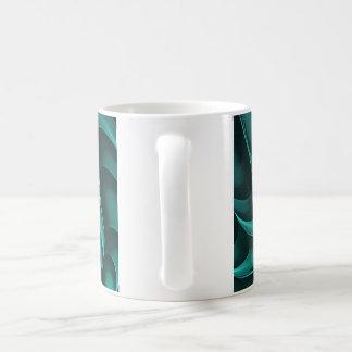 Fractal Design (Cricca Nut, Teal) on Coffee Mug