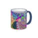 Fractal design lilac mug