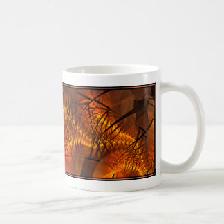 Fractal Design (Plasma Stream, Orng) on Coffee Mug