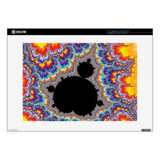 Fractal determinado multicolor brillante de portátil skins