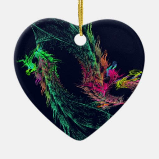 Fractal - dragón con alas ornamento para arbol de navidad