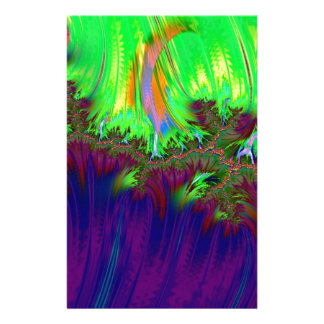 fractal duocolor purple stationery