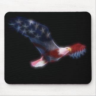 Fractal Eagle calvo Mousepad patriótico Alfombrillas De Ratones