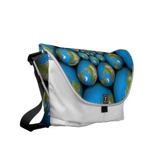 Fractal Earth Messenger Bag