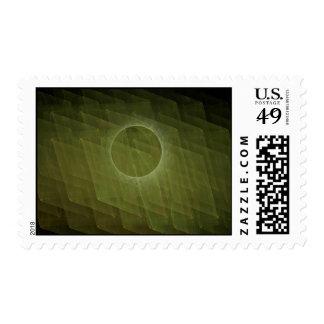 Fractal Eclipse Postage Stamp