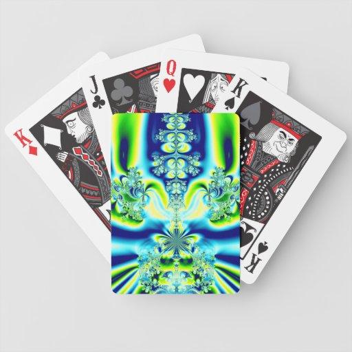Fractal elegante de la flor de lis baraja de cartas