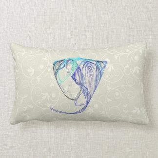 Fractal - Elephant Portrait Throw Pillows