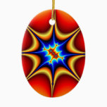 Fractal Emblem - Fractal Art Ceramic Ornament