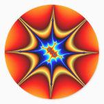 Fractal Emblem - Fractal Art Classic Round Sticker