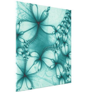 Fractal Embroidery Design Gallery Wrapped Canvas