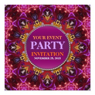 Fractal Embroidery mandala Party Invitation