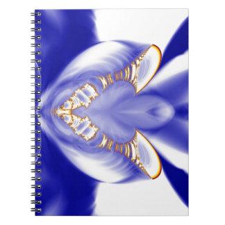 Fractal emplumado de la orquídea libro de apuntes con espiral