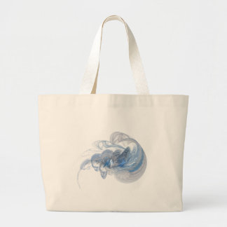 Fractal en azul bolsa lienzo
