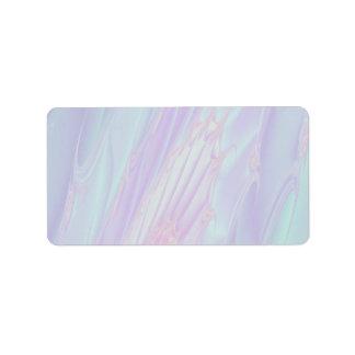Fractal en colores pastel del modelo - el mar Shel Etiqueta De Dirección