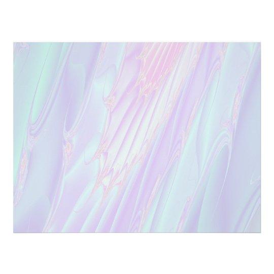 """Fractal en colores pastel del modelo - el mar Shel Folleto 8.5"""" X 11"""""""