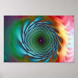 fractal en colores pastel posters