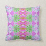 fractal en colores pastel verde rosado bonito almohada