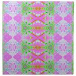 fractal en colores pastel verde rosado bonito servilleta de papel