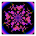 fractal en estilo del blacklight posters