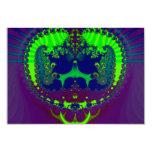 Fractal esmeralda de las joyas de la corona invitación 8,9 x 12,7 cm
