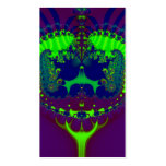 Fractal esmeralda de las joyas de la corona tarjetas de visita