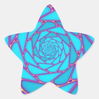 FRACTAL ESOTERIC MANDALA STAR STICKER