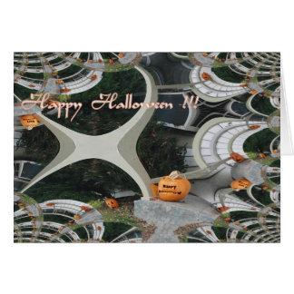 Fractal espeluznante de Halloween Tarjeta De Felicitación