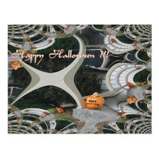 Fractal espeluznante de Halloween Tarjetas Postales