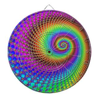 Fractal espiral abstracto tablero de dardos