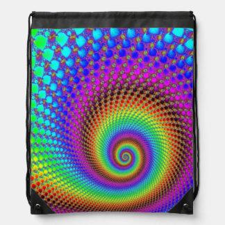 Fractal espiral abstracto mochila