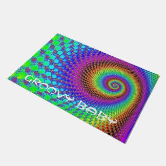 Fractal espiral abstracto + sus ideas felpudo