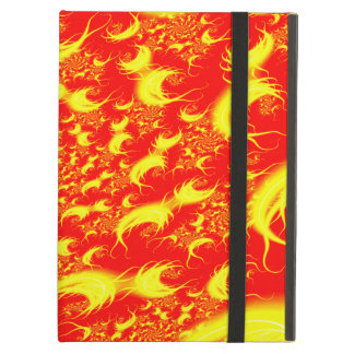 Fractal espiral amarillo rojo de las llamaradas