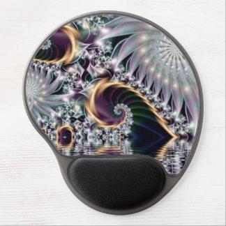 Fractal espiral de plata de la reflexión alfombrilla gel