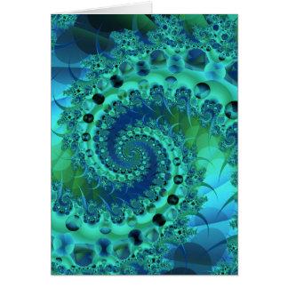 Fractal espiral de Shell de la turquesa Tarjetón