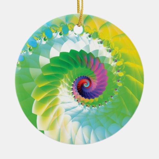 Fractal espiral del arco iris