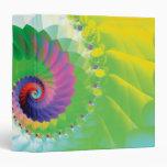 """Fractal espiral del arco iris carpeta 1 1/2"""""""