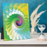 Fractal espiral del arco iris placa